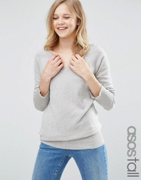 ASOS TALL Jumper With V Neck