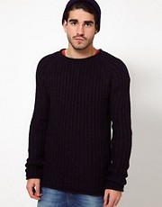 Nudie Jumper Vladimir Cable Crew Neck