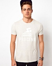 ASOS - T-shirt con scritta &quot;Piscine&quot; stampata