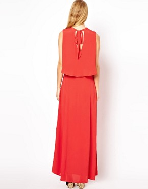 Image 2 ofASOS Maxi Dress With 70&#39;s Cape Neck Detail