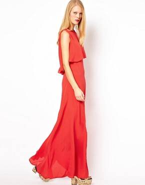 Image 4 ofASOS Maxi Dress With 70&#39;s Cape Neck Detail