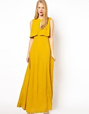 ASOS Maxi Dress With 70&#39;s Cape Neck Detail