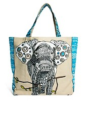 Echo - Borsa shopping con elefante