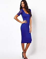 ASOS Bodycon Dress With Laser Cut Sleeves