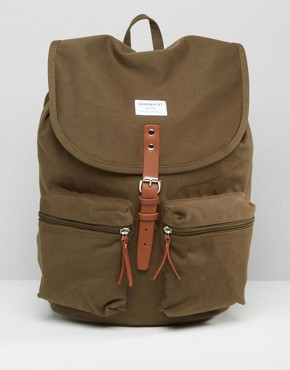 Sandqvist Roald Backpack In Olive