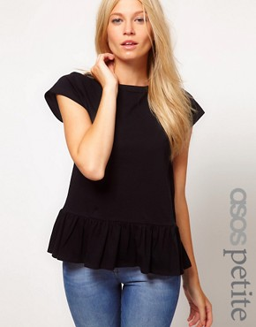 Image 1 ofASOS PETITE T-Shirt With Peplum