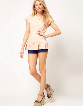 Image 4 ofASOS PETITE T-Shirt With Peplum