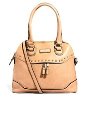 River Island Stud Front Kettle Handbag