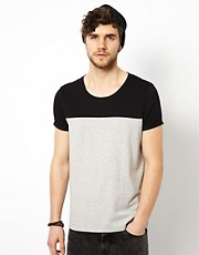 ASOS T-Shirt With Cut And Sew Contrast Yoke