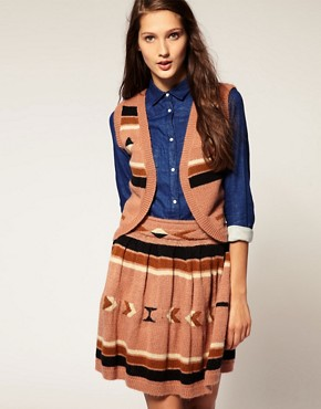 Image 1 ofASOS Navajo Knitted Waistcoat