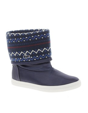 Image 1 ofLacoste Zerubia 6 Knit Cuff Boots