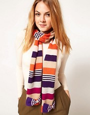 Alice Hannah Stripe Bow Scarf