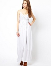 A Wear Crochet Trim Maxi Dress