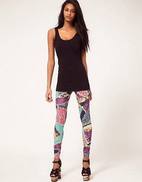 Image 1 ofASOS Legging in Chain and Animal Print