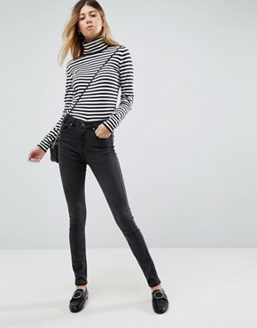 ASOS 'Sculpt Me' High Rise Premium Jeans in Brooklyn Washed Black