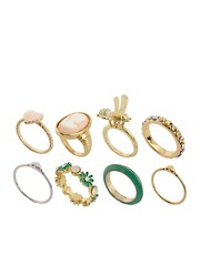 Pack de anillos bonitos de estilo vintage de ASOS