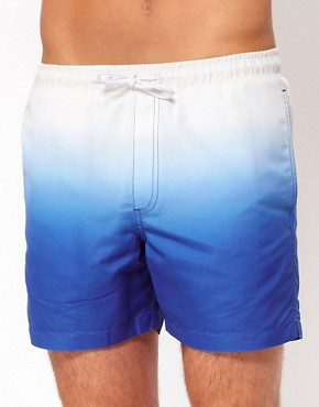 Image 1 ofASOS Swim Shorts With Dip Dye
