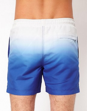 Image 2 ofASOS Swim Shorts With Dip Dye
