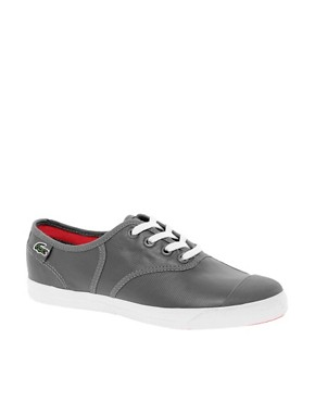 Image 1 ofLacoste Live Rene Grey Plimsolls