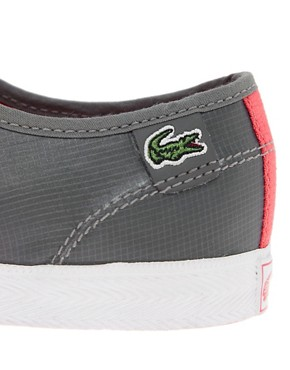 Image 2 ofLacoste Live Rene Grey Plimsolls