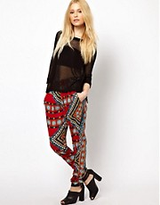 River Island Printed Trousers
