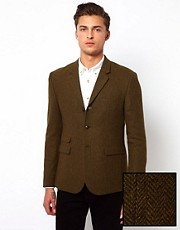 ASOS Slim Fit Blazer in Herringbone