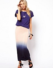 Love Maxi Skirt In Dip Dye