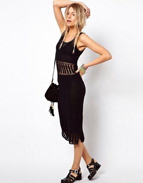 Image 4 ofASOS Crochet Midi Dress