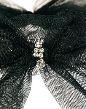Image 3 ofAdele Marie Tie Bow Headband with Diamante