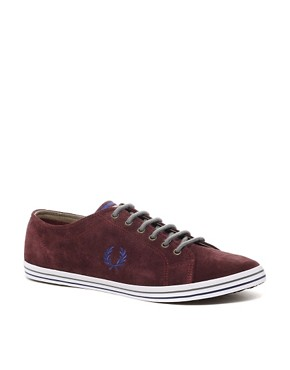 Image 1 ofFred Perry Kingston Suede Plimsolls