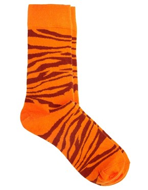 Image 1 ofHappy Socks Animal Print Socks