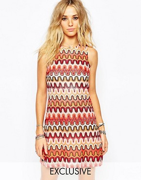 Glamorous A-Line Shift Dress in 70's Knit