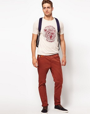 Image 4 ofASOS Slim Chino With Contrast Pockets