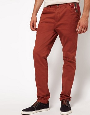 Image 1 ofASOS Slim Chino With Contrast Pockets