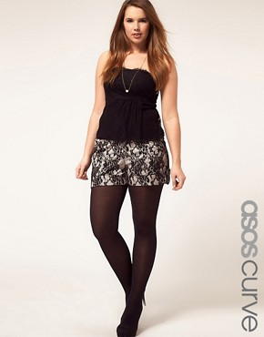 Image 1 ofASOS CURVE Exclusive Short In Lace