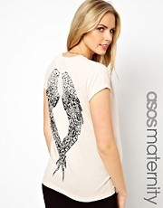 ASOS Maternity T-Shirt with Printed Wings