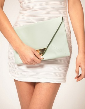 Image 3 ofASOS Pyramid Metal Tip Clutch