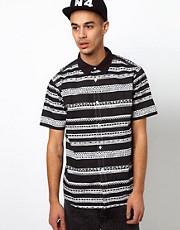 Stussy Shirt Short Sleeve Tom Tom