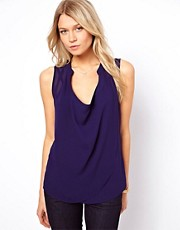 ASOS Sleeveless Blouse With Detail Front And Drop Neck