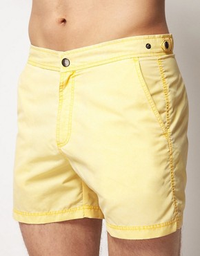 Image 1 ofASOS Washed Out Swim Shorts