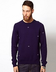 Libertine Libertine Jumper with All Over Boat Embroidery