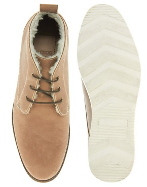 Image 3 ofASOS Chukka Boots With Shearling Lining