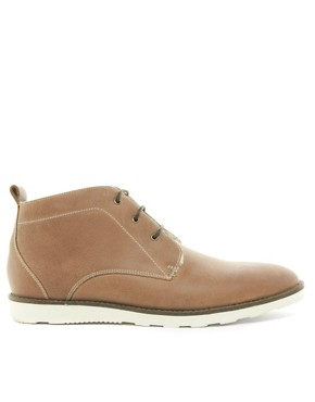 Image 4 ofASOS Chukka Boots With Shearling Lining