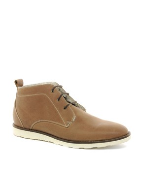 Image 1 ofASOS Chukka Boots With Shearling Lining