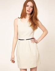 Oasis Textured Lantern Dress