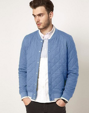 Image 1 ofASOS Varsity Jacket In Quilted Fabric