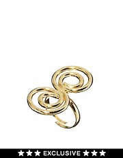 Anillo vintage con espiral estilo aos 90 exclusivo para ASOS de Susan Caplan