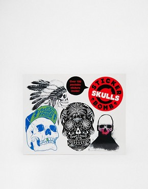 Stickerbomb Skulls Book