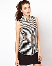 Vero Moda Stripe Sleeveless Shirt