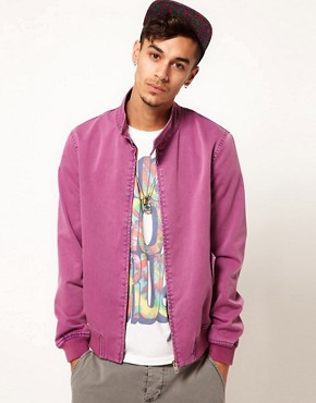 Image 1 of ASOS Harrington Jacket With Acid Wash